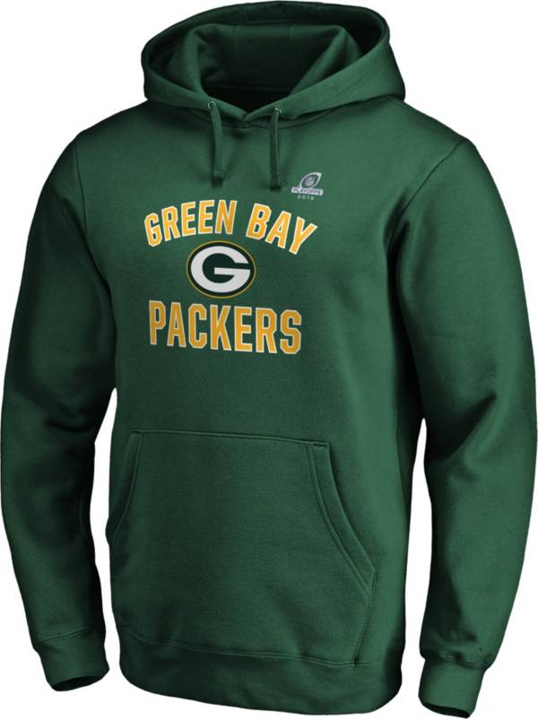 NFL Men's Green Bay Packers Arch Green 2019 Playoffs Hoodie product image