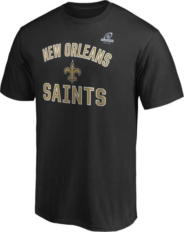 NFL Men's New Orleans Saints Arch Black 2019 Playoffs T-Shirt product image