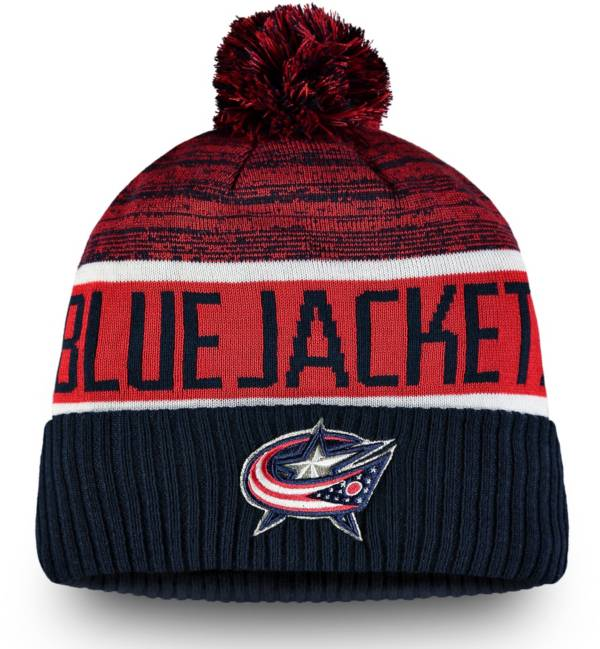 NHL Men's Columbus Blue Jackets Authentic Pro Rinkside Goalie Cuffed Knit Beanie product image