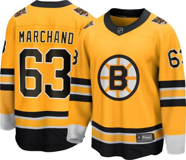 NHL Men's Boston Bruins Brad Marchand #63 Special Edition Gold Replica Jersey