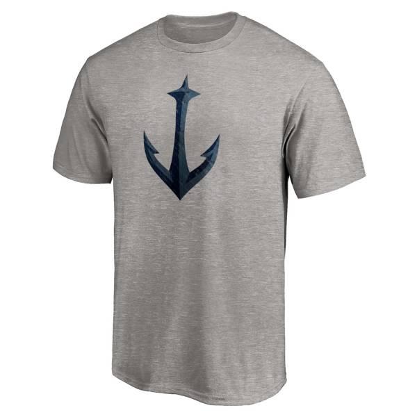 NHL Men's Seattle Kraken Secondary Logo Grey T-Shirt product image