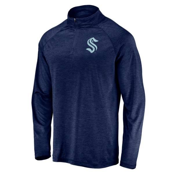NHL Men's Seattle Kraken Foil Navy Quarter-Zip Pullover product image