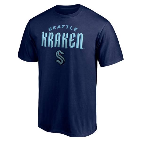 NHL Men's Seattle Kraken Wordmark Navy T-Shirt product image