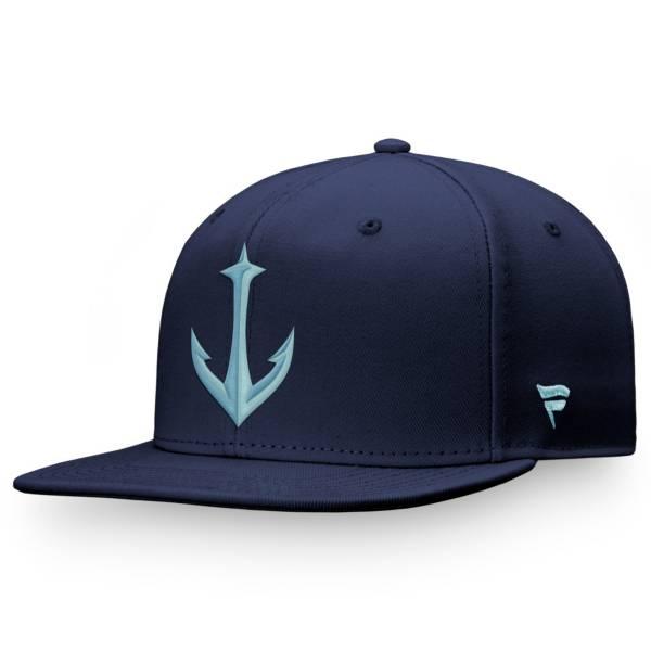 NHL Men's Seattle Kraken Secondary Logo Navy Adjustable Hat product image