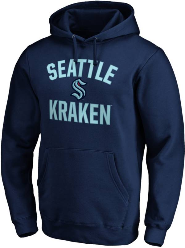 NHL Men's Seattle Kraken Victory Arch Navy Pullover Hoodie product image