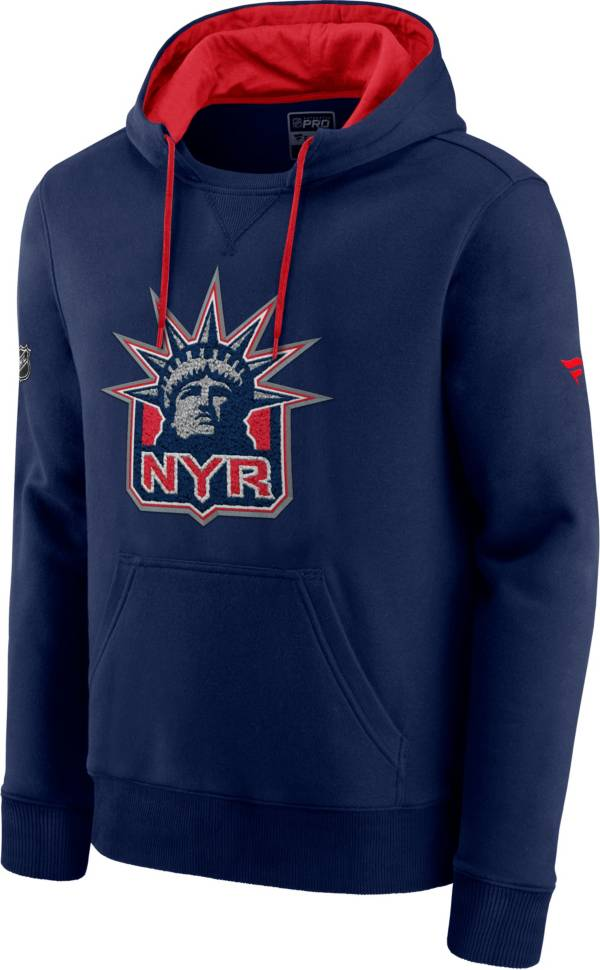 NHL Men's New York Rangers Special Edition Logo Navy Pullover Hoodie product image