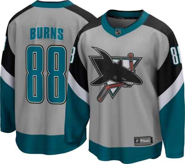 NHL Men's San Jose Sharks Brent Burns #88 Special Edition Grey Replica Jersey product image