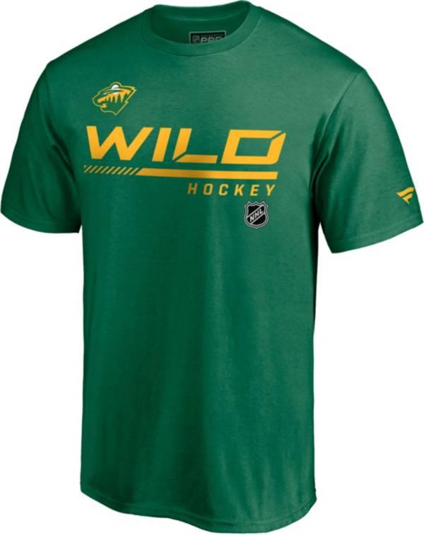 NHL Men's Minnesota Wild Special Edition Wordmark Green T-Shirt product image