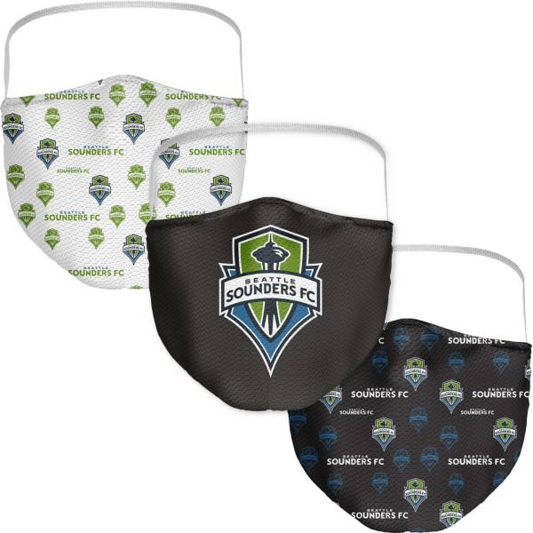Seattle Sounders FC 3-Pack Face Coverings product image