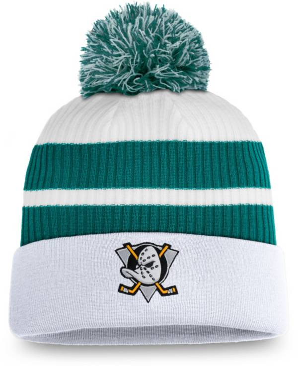 NHL Men's Anaheim Ducks White Special Edition Knit Pom Beanie product image
