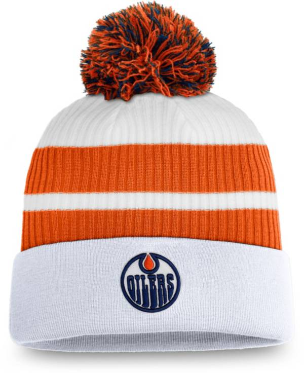 NHL Men's Edmonton Oilers White Special Edition Knit Pom Beanie product image