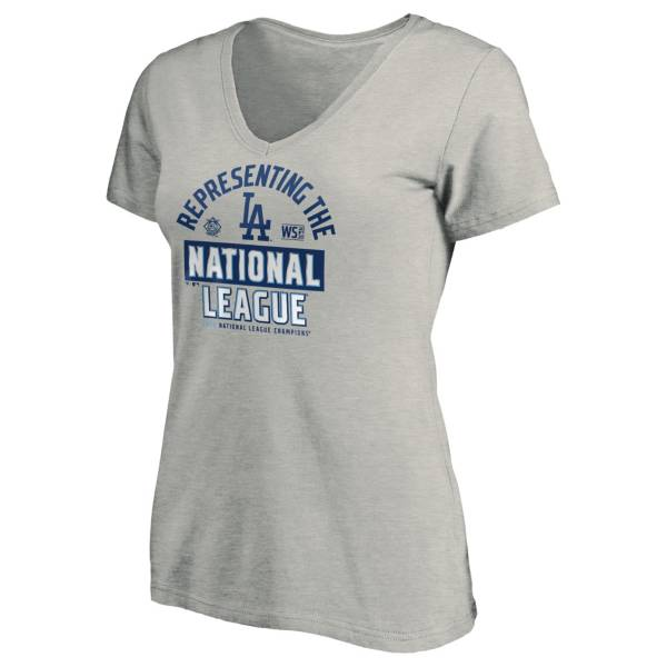 MLB Women's 2020 National League Champions Locker Room Los Angeles Dodgers V-Neck T-Shirt product image