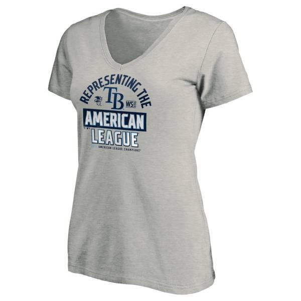 MLB Women's 2020 American League Champions Locker Room Tampa Bay Rays V-Neck T-Shirt product image