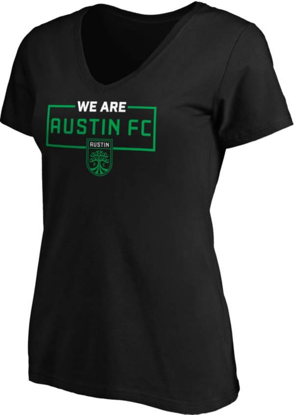 MLS Women's Austin FC 'We Are Austin FC' Black V-Neck T-Shirt product image