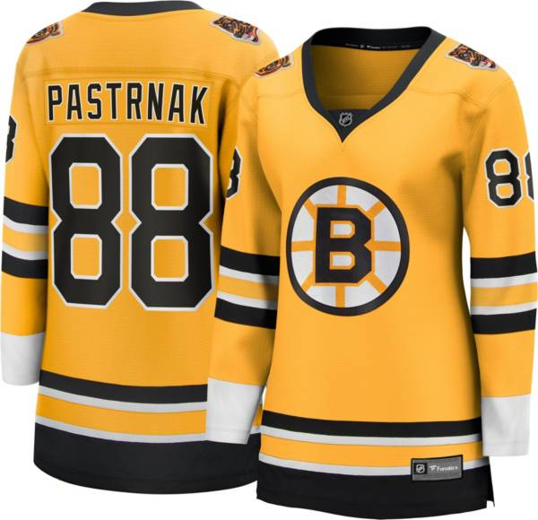 NHL Women's Boston Bruins David Pastrnak #88 Special Edition Gold Replica Jersey product image