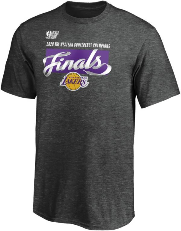 NBA Youth 2020 Western Conference Champions Los Angeles Lakers Locker Room T-Shirt product image