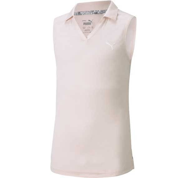PUMA Girls' Heather Sleeveless Polo product image