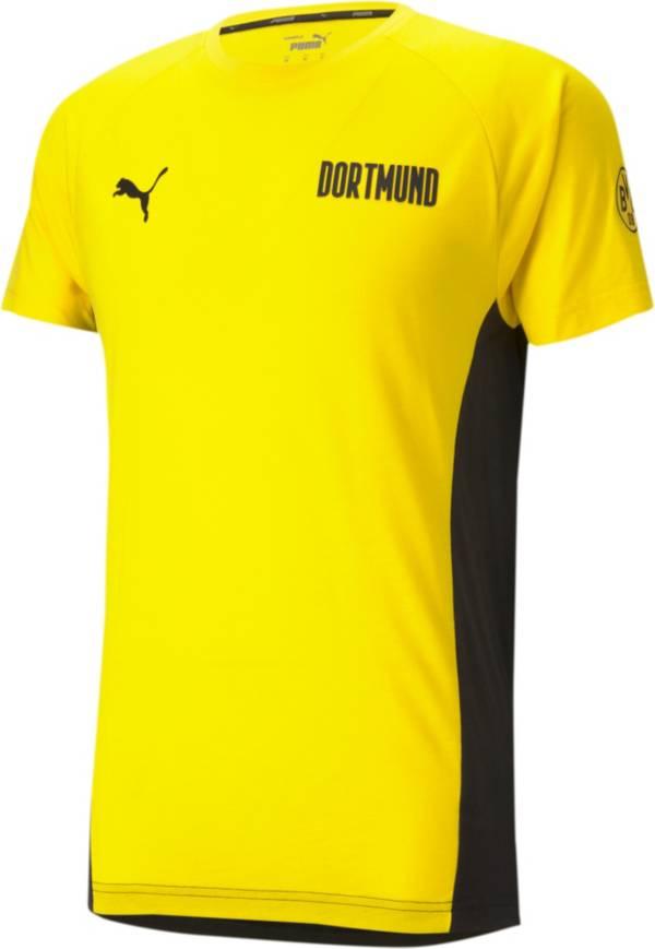 PUMA Men's Borussia Dortmund Evostripe Yellow T-Shirt product image