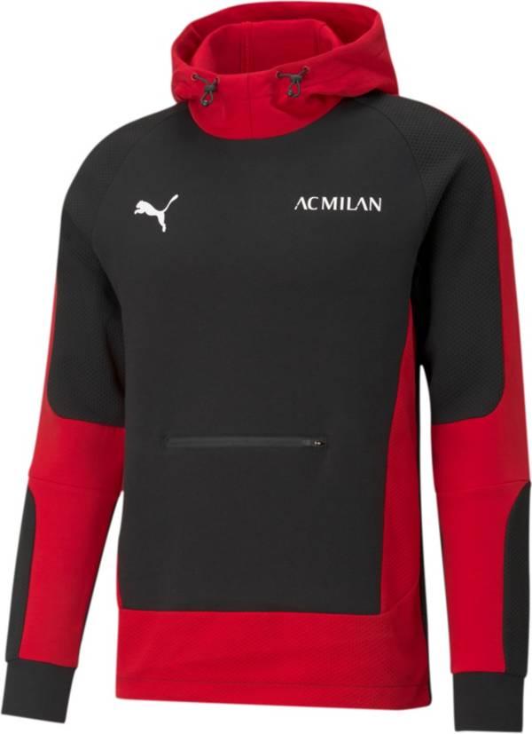 PUMA Men's AC Milan Black/Red Evostripe Pullover Hoodie product image