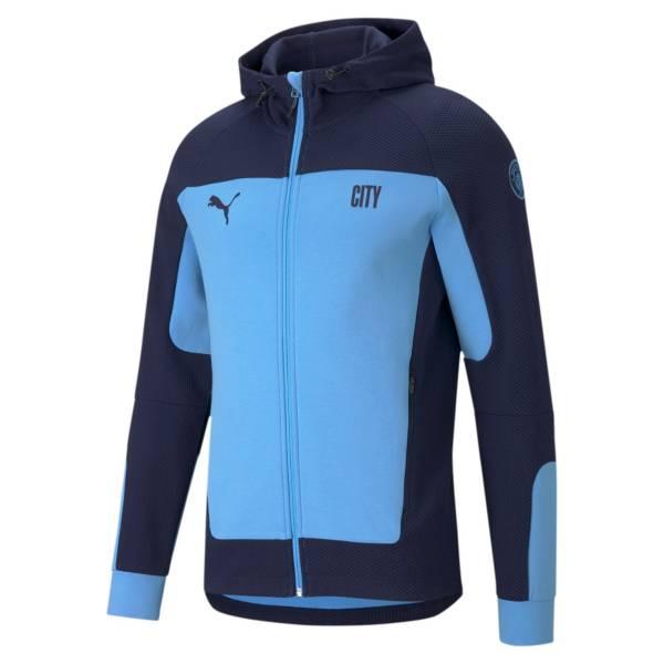 PUMA Men's Manchester City Evostripe Blue Full-Zip Jacket product image