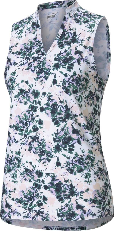 Puma Women's Cloudspun Floral Tie Dye Polo product image