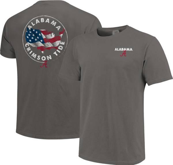Image One Men's Alabama Crimson Tide Grey Sketch USA T-Shirt product image