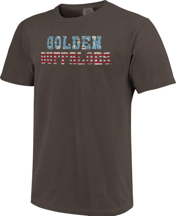 Image One Men's Colorado Buffaloes Grey Vintage Flag T-Shirt product image