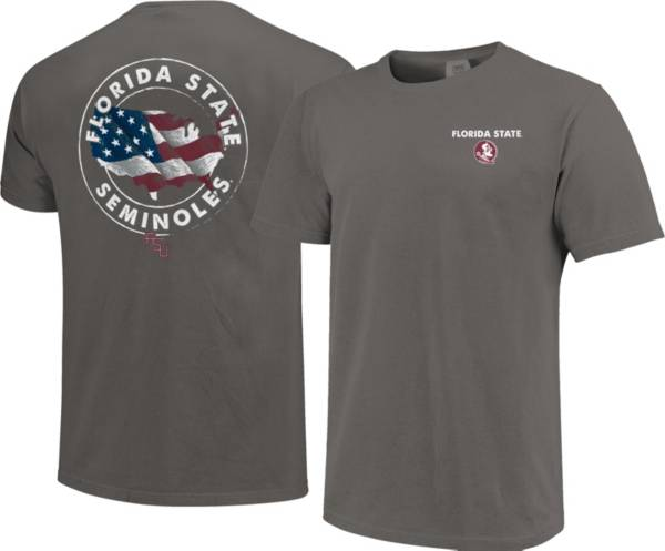 Image One Men's Florida State Seminoles Grey Sketch USA T-Shirt product image