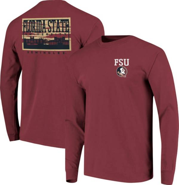 Image One Men's Florida State Seminoles Garnet Campus Sky Long Sleeve T-Shirt product image