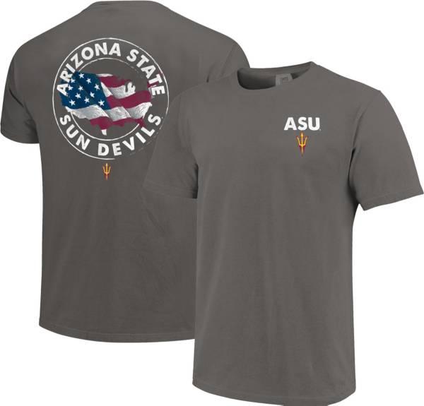 Image One Men's Arizona State Sun Devils Grey Sketch USA T-Shirt product image