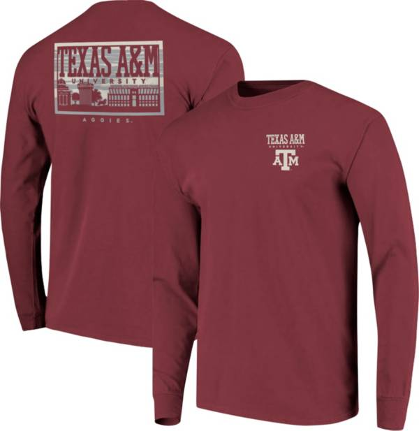 Image One Men's Texas A&M Aggies Maroon Campus Sky Long Sleeve T-Shirt product image