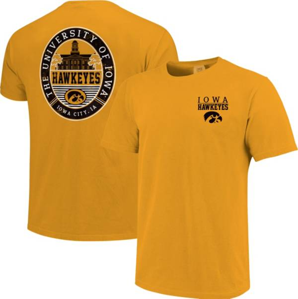 Image One Men's Iowa Hawkeyes Gold Campus Local T-Shirt product image