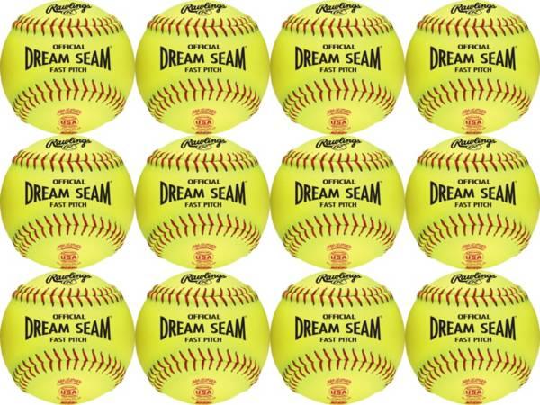 Rawlings 12'' Dream Seam ASA/NFHS High Density Leather Softballs - 12 Pack product image