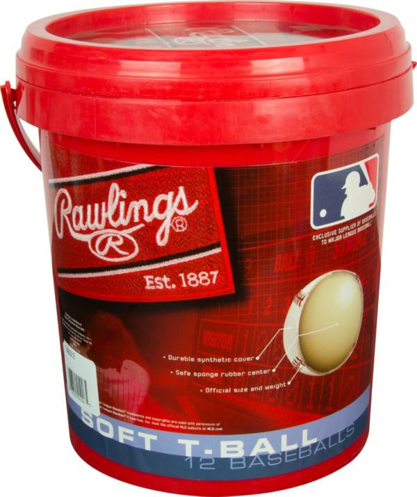 Rawlings 1-Gallon T-Ball Bucket - 12 Pack product image