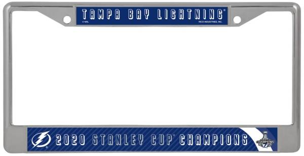 Rico 2020 Stanley Cup Champions Tampa Bay Lightning Chrome License Plate Frame product image