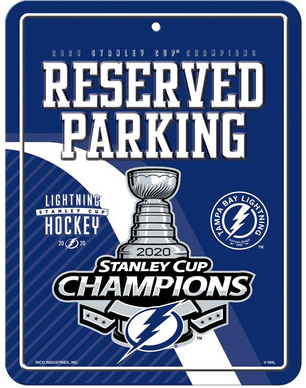 Rico 2020 Stanley Cup Champions Tampa Bay Lightning Metal Parking Sign product image