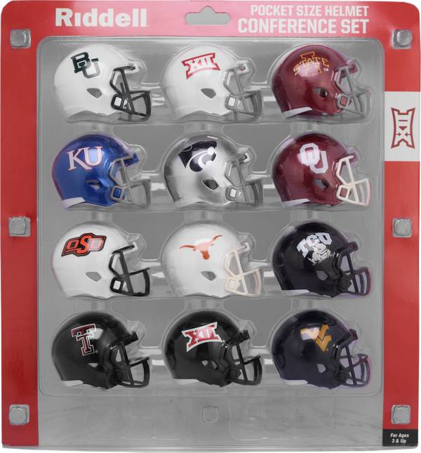 Riddell Big 12 Conference Mini Football Helmet Set product image
