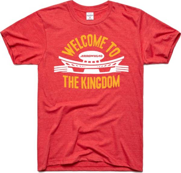 Charlie Hustle Men's Welcome To The Kingdom Red T-Shirt product image