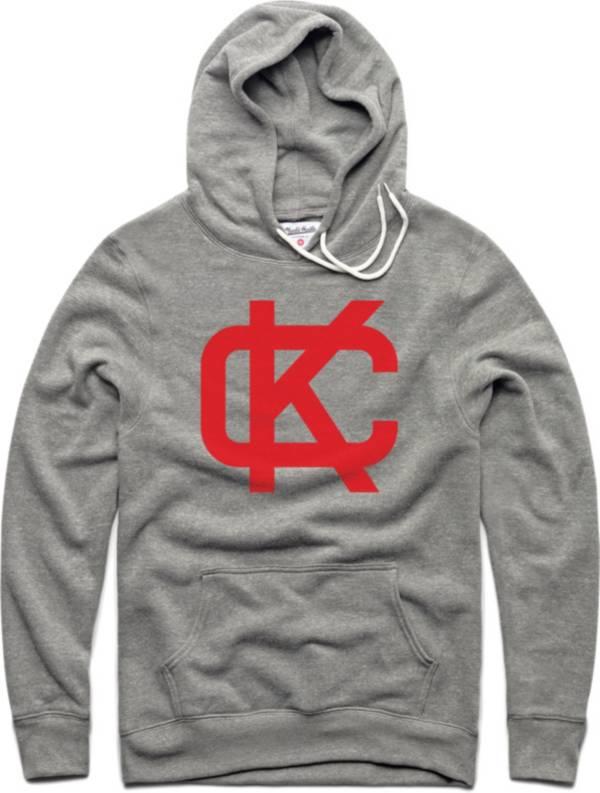 Charlie Hustle Men's KC Block Grey Pullover Hoodie product image