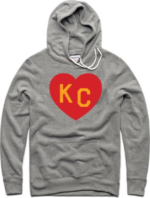Charlie Hustle Men's KC Heart Vintage Grey Pullover Hoodie product image