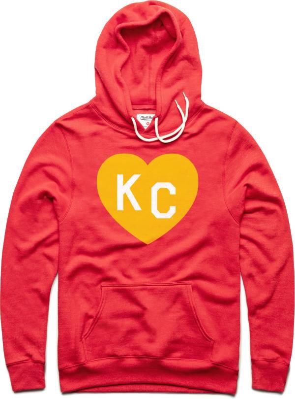 Charlie Hustle Men's KC Heart Vintage Red Pullover Hoodie product image