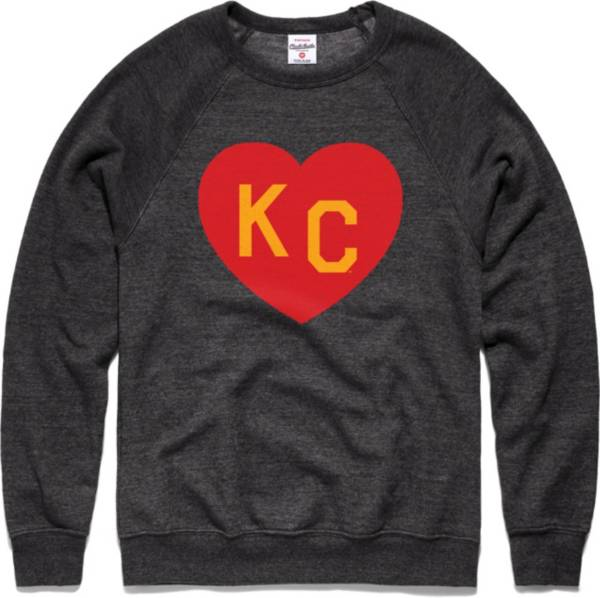 Charlie Hustle Men's KC Heart Vintage Black Crew Sweatshirt product image