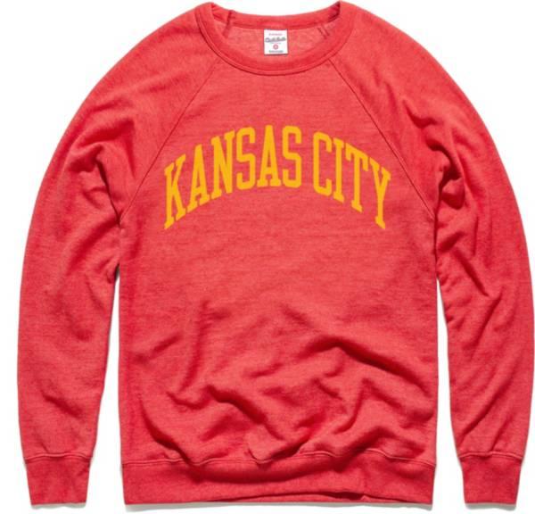 Charlie Hustle Men's KC Arch Vintage Red Crew Sweatshirt product image