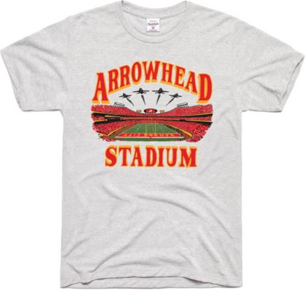 Charlie Hustle Men's KC Arrowhead Grey T-Shirt product image