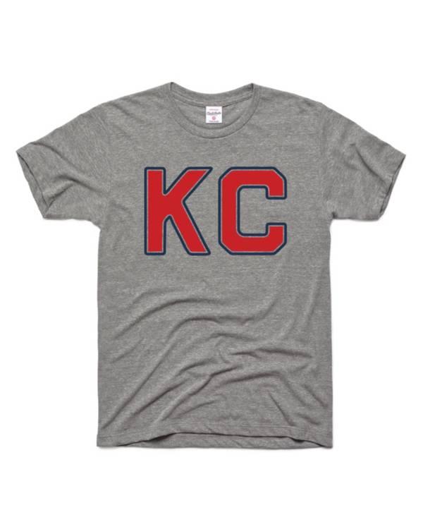 Charlie Hustle Kansas City Monarchs Vintage Heather Grey T-Shirt product image