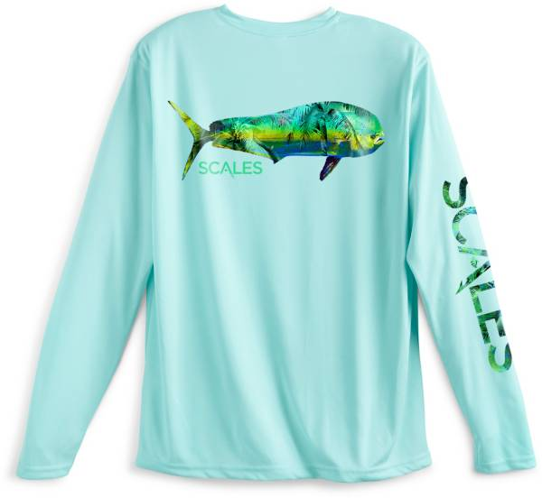 SCALES Men's Tropical Mahi Performance Long Sleeve Shirt product image