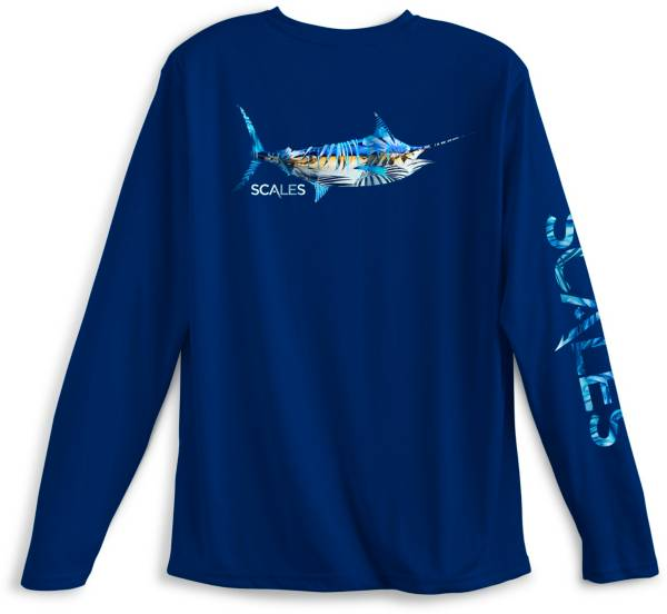 SCALES Men's Tropical Marlin Performance Long Sleeve Shirt product image