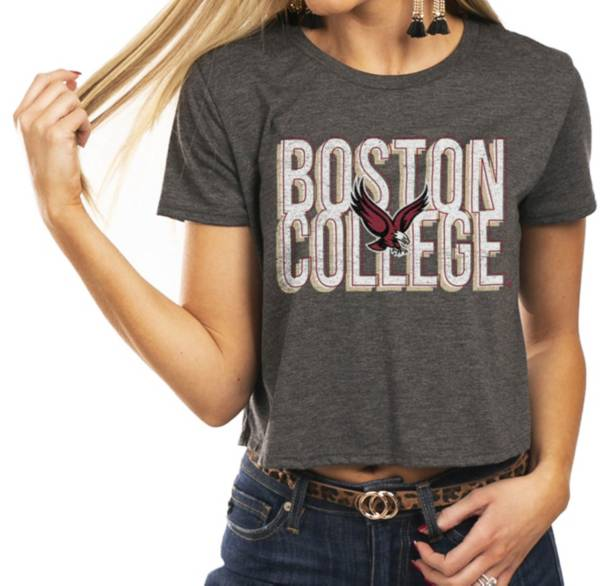 Gameday Couture Women's Boston College Eagles Grey Home Team Advantage Vintage Vibe Crop Top product image