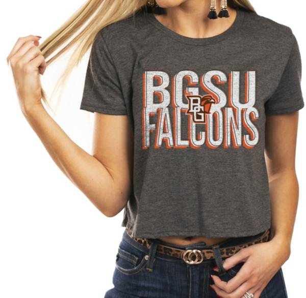Gameday Couture Women's Bowling Green Falcons Grey Home Team Advantage Vintage Vibe Crop Top product image