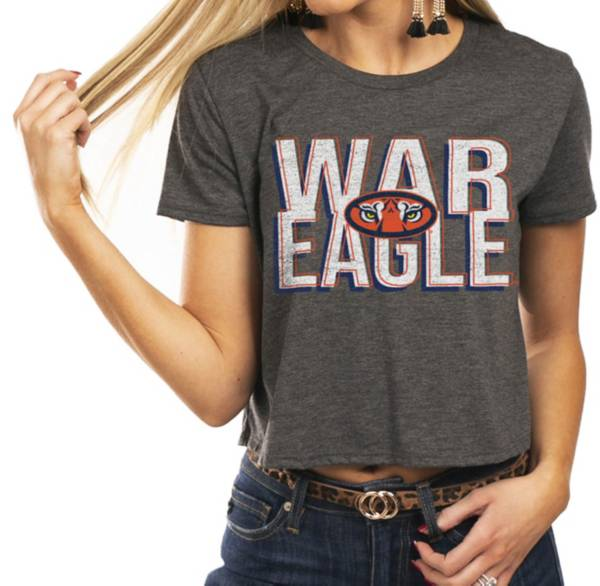 Gameday Couture Women's Auburn Tigers Grey Home Team Advantage Vintage Vibe Crop Top product image